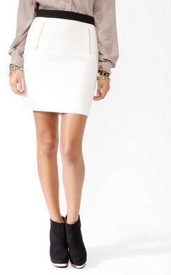 #Forever21                #Skirt                    #Zippered #Contrast #Waist #Skirt #FOREVER #2025102020                        Zippered Contrast Waist Skirt | FOREVER 21 - 2025102020                                                 http://www.seapai.com/product.aspx?PID=108213