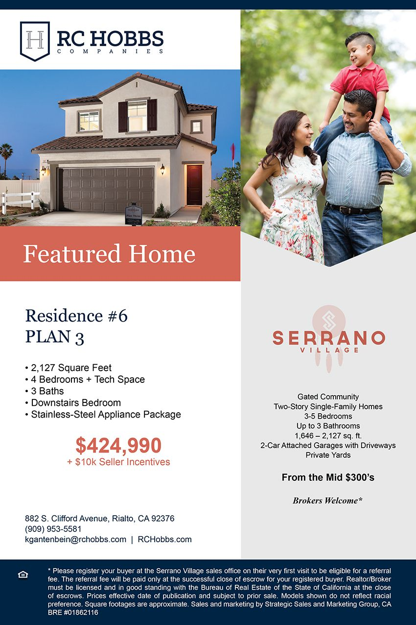 New Homes For Sale In Rialto California Serrano Village Featured Home Quick Close Tour 3 Fully Furnished Models Village Gated Community New Homes For Sale