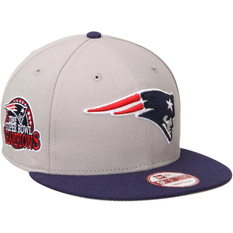 Men's New England Patriots New Era Gray/Navy Blue Super Bowl XLIX Champions 9FIFTY Snapback Hat