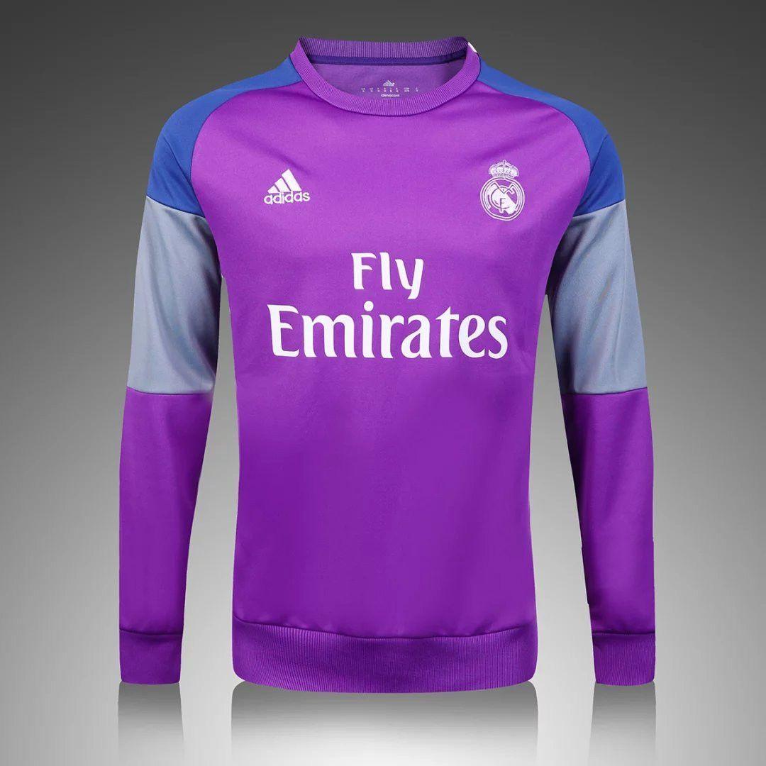 71d1550c8 Real Madrid 2016 17 Purple Long Sleeve Training Top