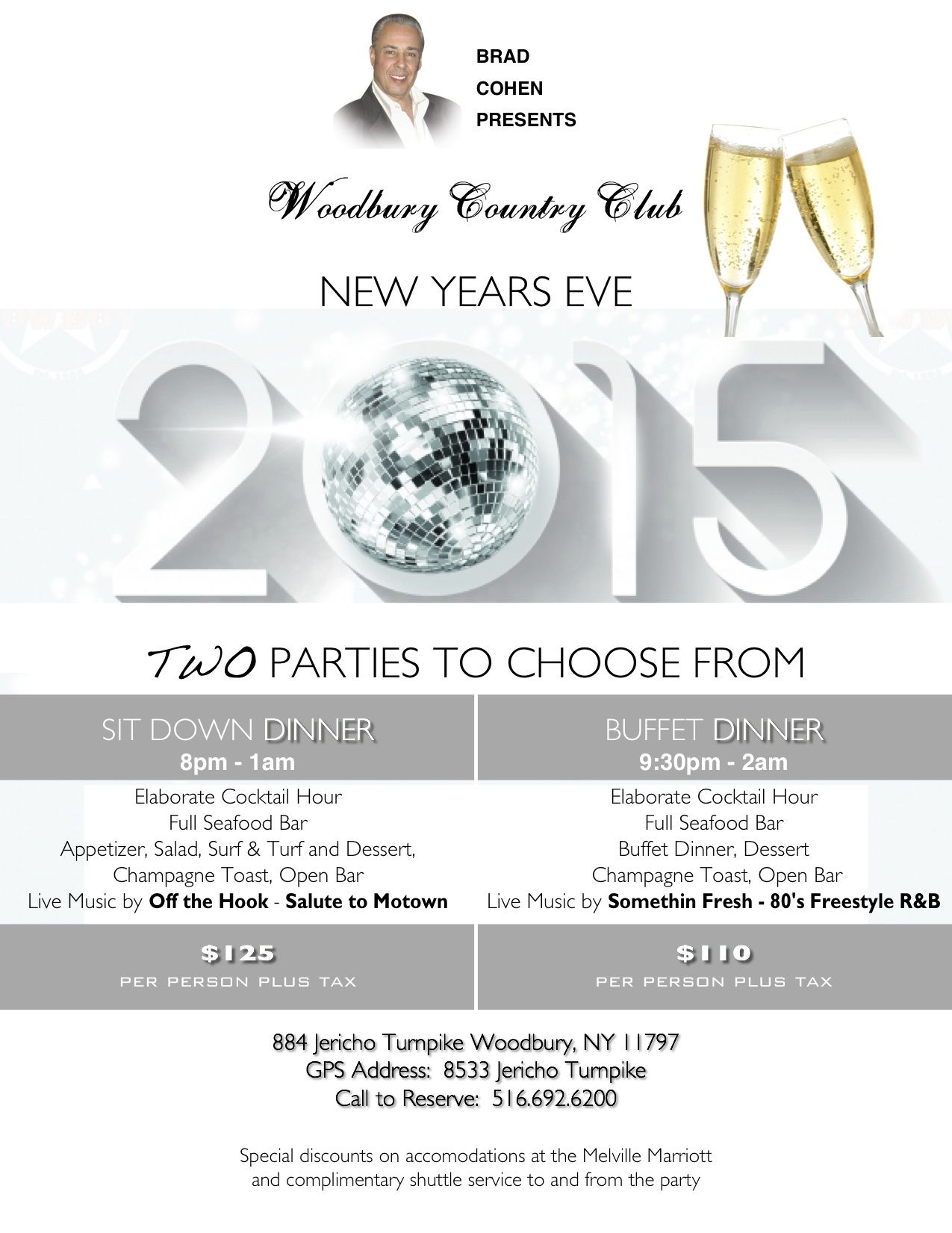 Long Island\'s BEST NEW YEARS EVE GALA at WOODBURY COUNTRY CLUB Two ...