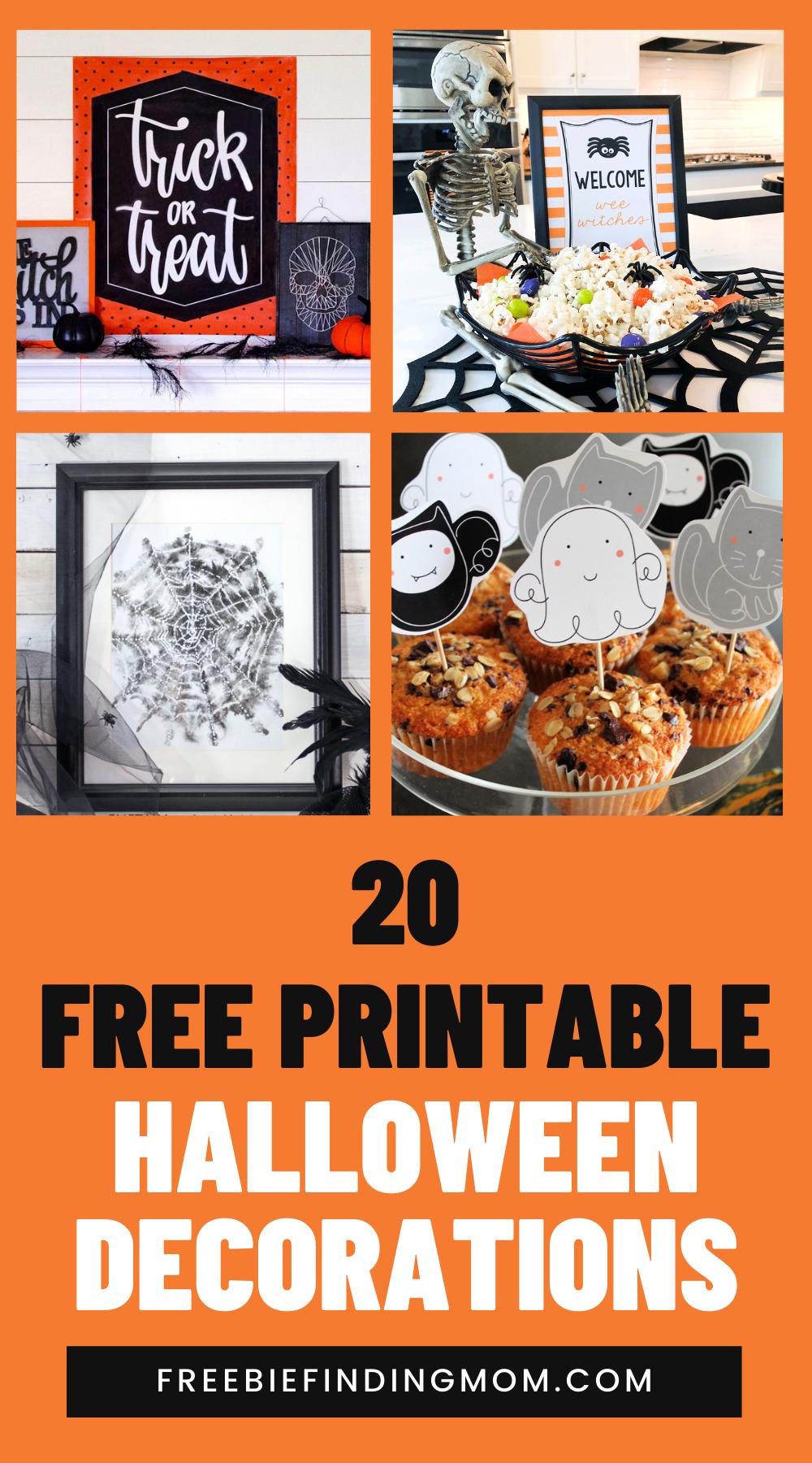 20 Free Printable Halloween Decorations Printable Halloween Decorations Halloween Printables Free Printables Kids