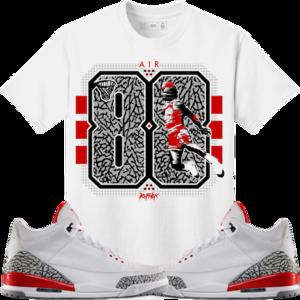 163c7d32a756 Original Rufnek T-Shirt Jordan 3 Katrina Hall of Fame Sneaker Tees Shirt -  CEMENT 88  Sneakers