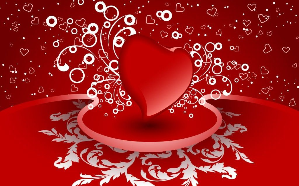 Red love heart wallpaper