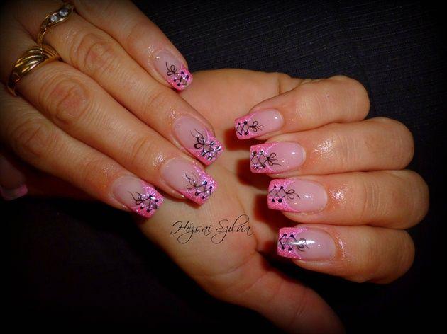 Sexy Pink By Hezsaiszilvia Nail Art Gallery Nailartgallery