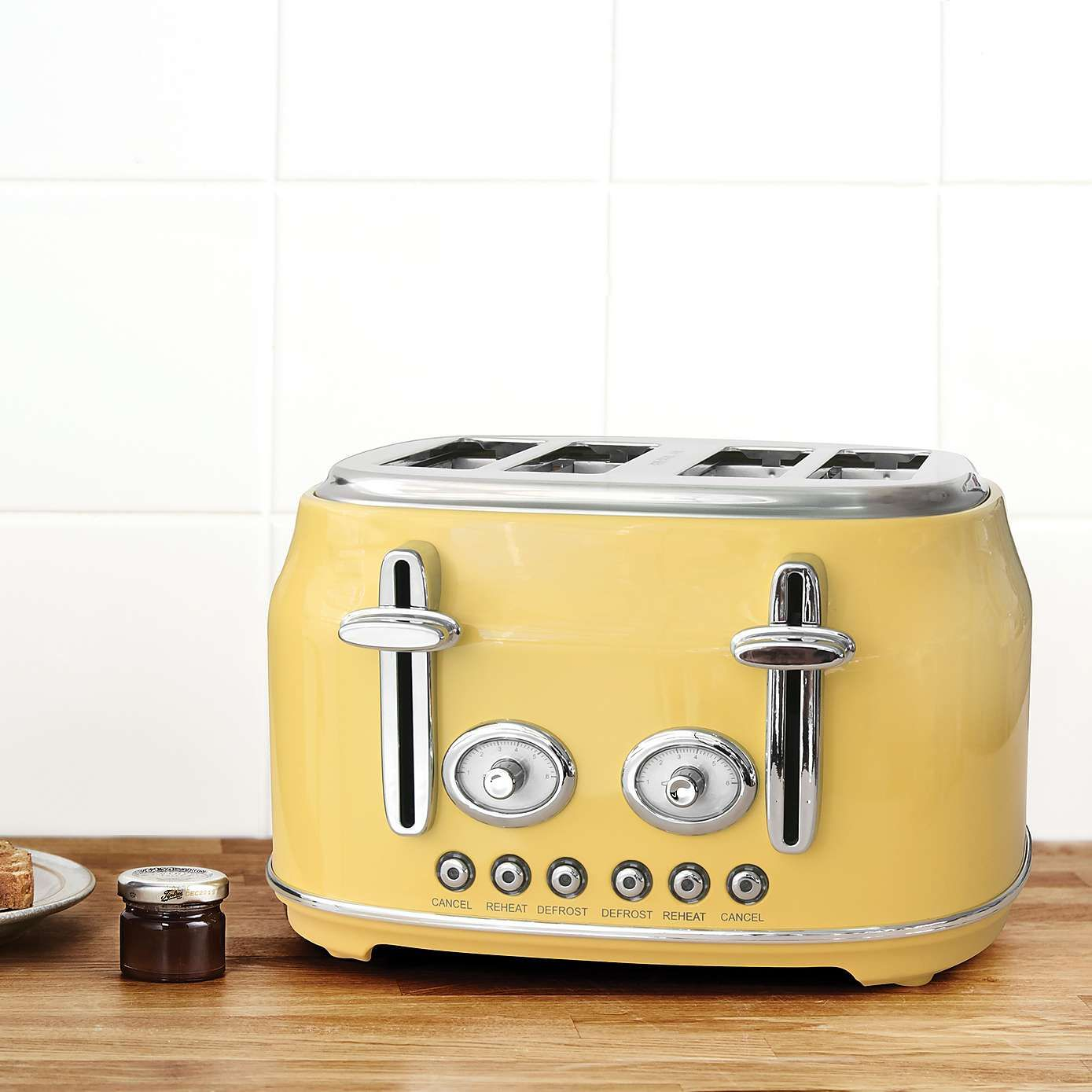 Retro Yellow 4 Slice Toaster Retro Kitchen Appliances Retro Toaster Yellow Toaster