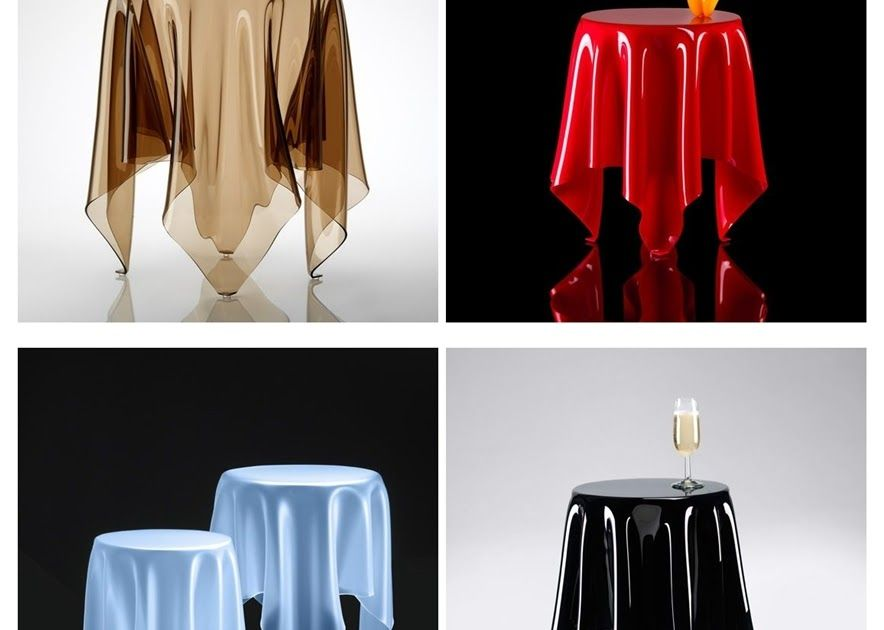 A Illusion Table foi idealizada pelo Designer John Brauer , e dá a impressão de uma toalha de mesa colocada sobre uma mesa redonda.   Fab...
