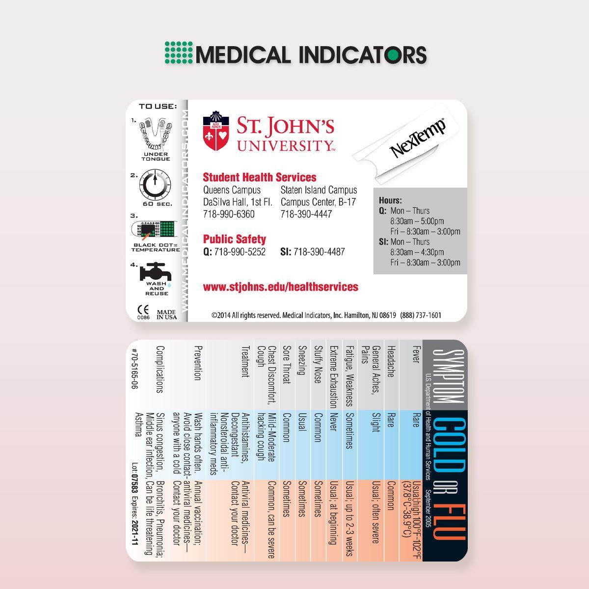 we created a custom nextemp card for st john's university