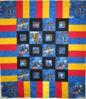 Mini Transformers Frame Quilt.... Can use any character not just Transformers.  I will use Thomas the train for one of my grand sons.