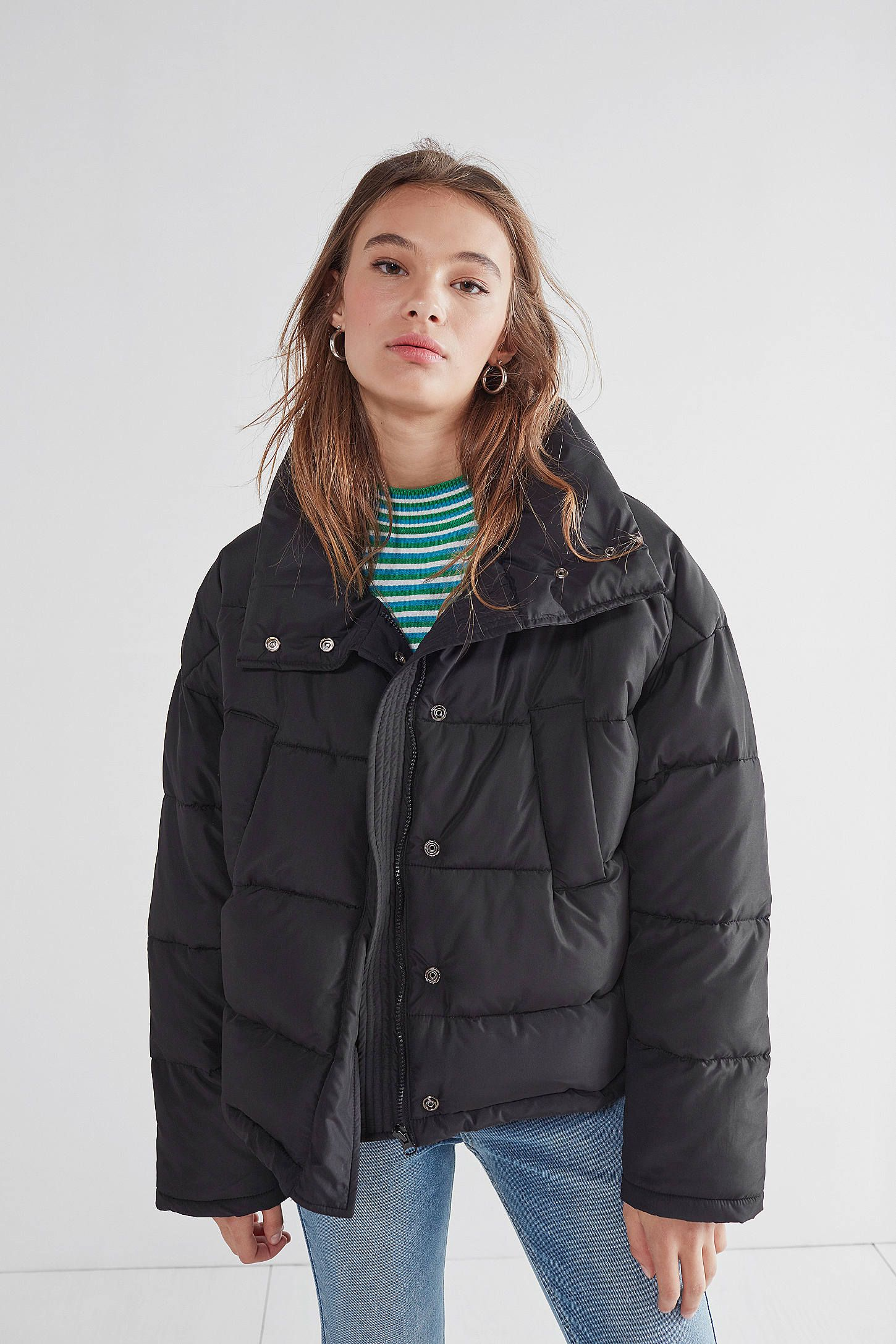 Shop Silence Noise Classic Puffer Jacket At Urban Outfitters Today We Carry All The Latest Styles Colors And Bra Puffer Jacket Black Jackets Puffer Jackets [ 2175 x 1450 Pixel ]
