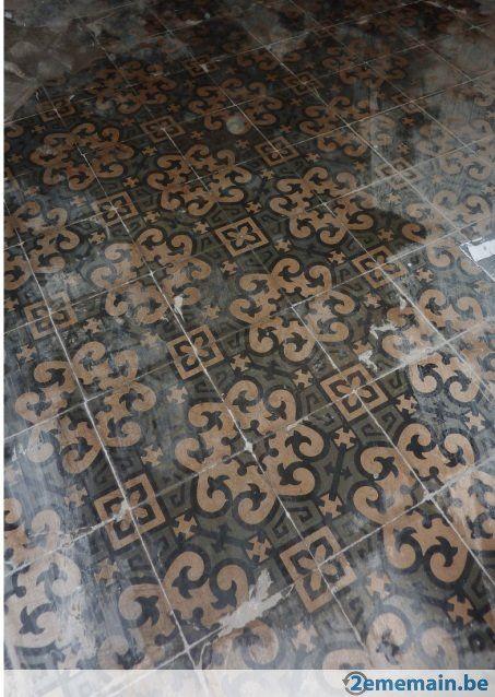 30m² de carrelages anciens (1905) teintés dans la masse | Carrelage ancien, Décoration assiette ...