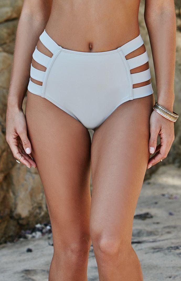 Strappy Side High Waisted Bikini Bottom High Waisted Bikini Bottoms 4d9f93a904e6