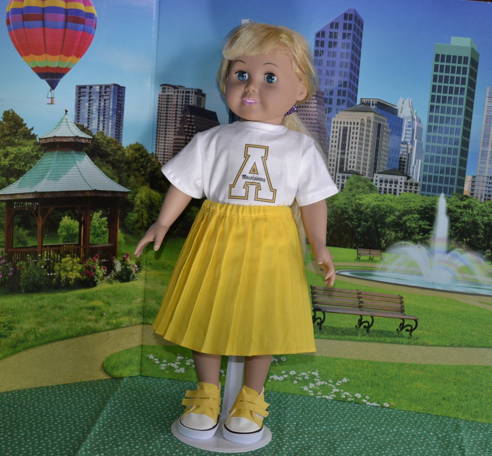 Appalachian Cheerleader Outfit 18 inch doll clothes #18inchdollsandclothes