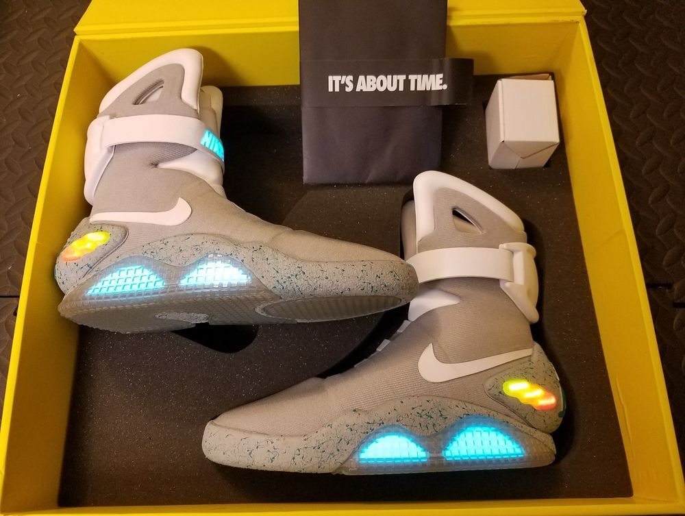 Air Mag Back To The Future Ebay Nike Air Mag Size 8 Back To The Future 54 Bnib Ds Marty Mcfly 100 Authentic Clothing Shoes Amp Accessories Men 39 S Shoe Nike Air Mag Mcfly Nike Air