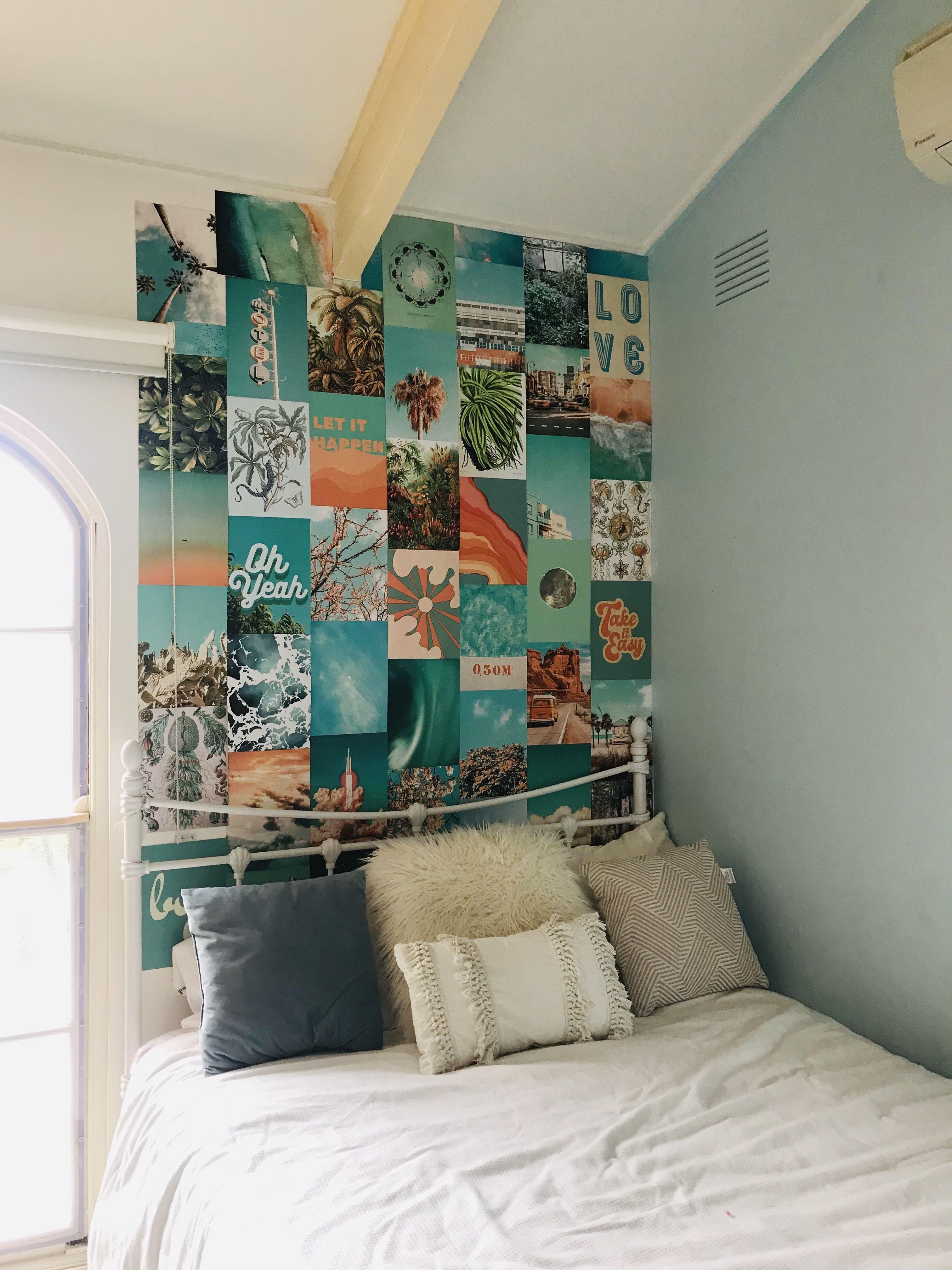 Summer Blue Collage Kit | Etsy | Photo walls bedroom, Room ...