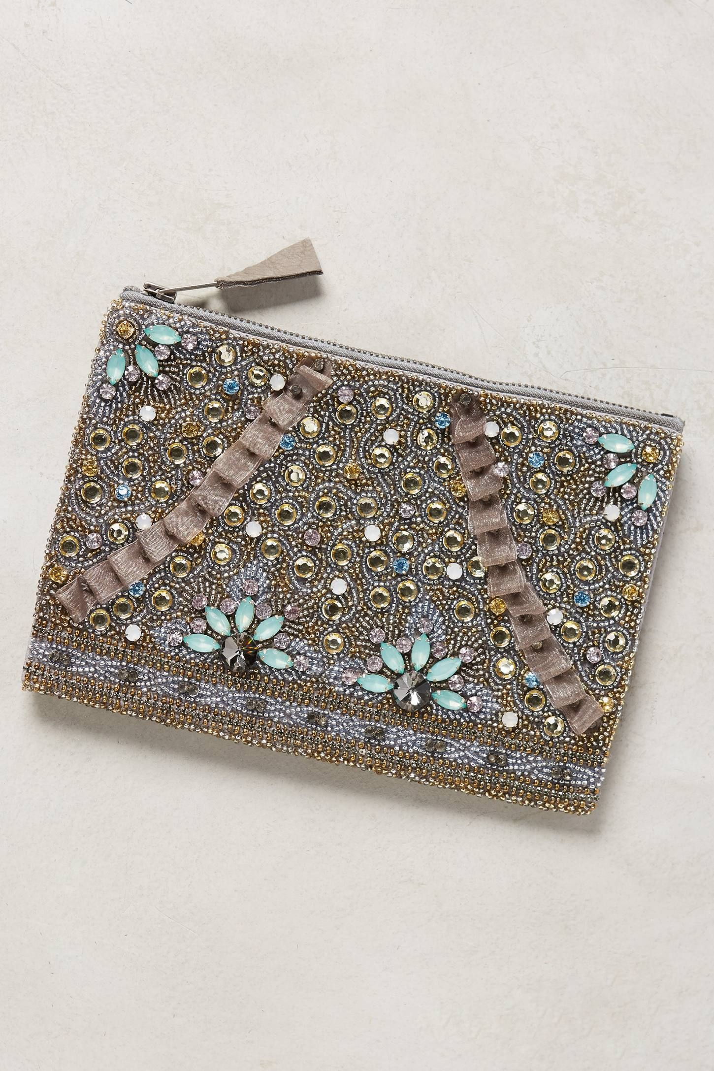 at anthropologie Myra Embellished Pouch