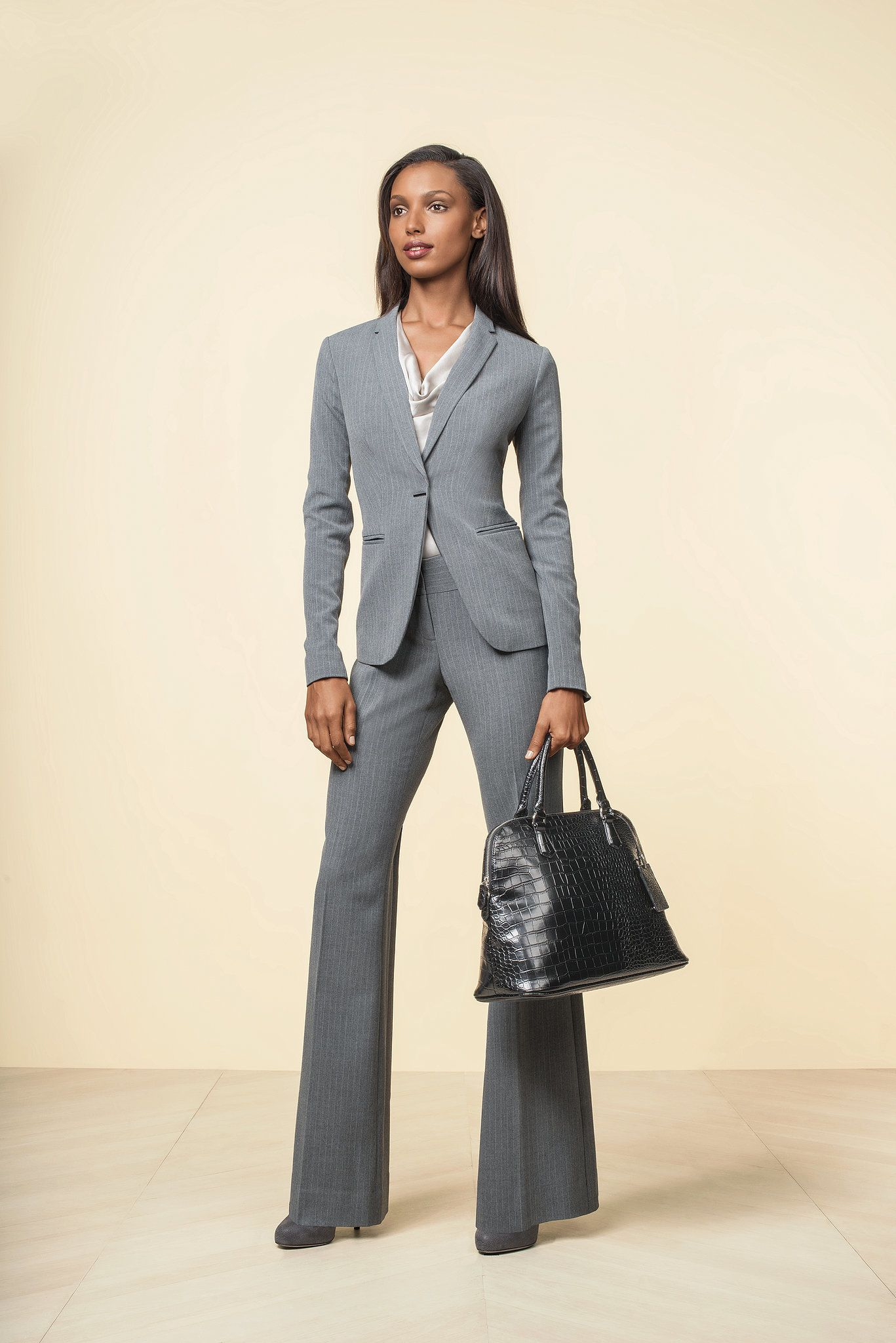 03d43cc8 The Limited Scandal Collection Narrow Lapel Pinstriped Jacket ($168) The  Limited Scandal Collection Liv Flare Leg Trouser Pants ($98) The Limited  Scandal ...