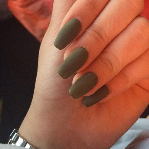 67 Best Matte Nails View Them All Right Here Http Www Nailmypolish Com Matte Nails Nailmypolish Green Acrylic Nails Olive Nails Matte Nails Design