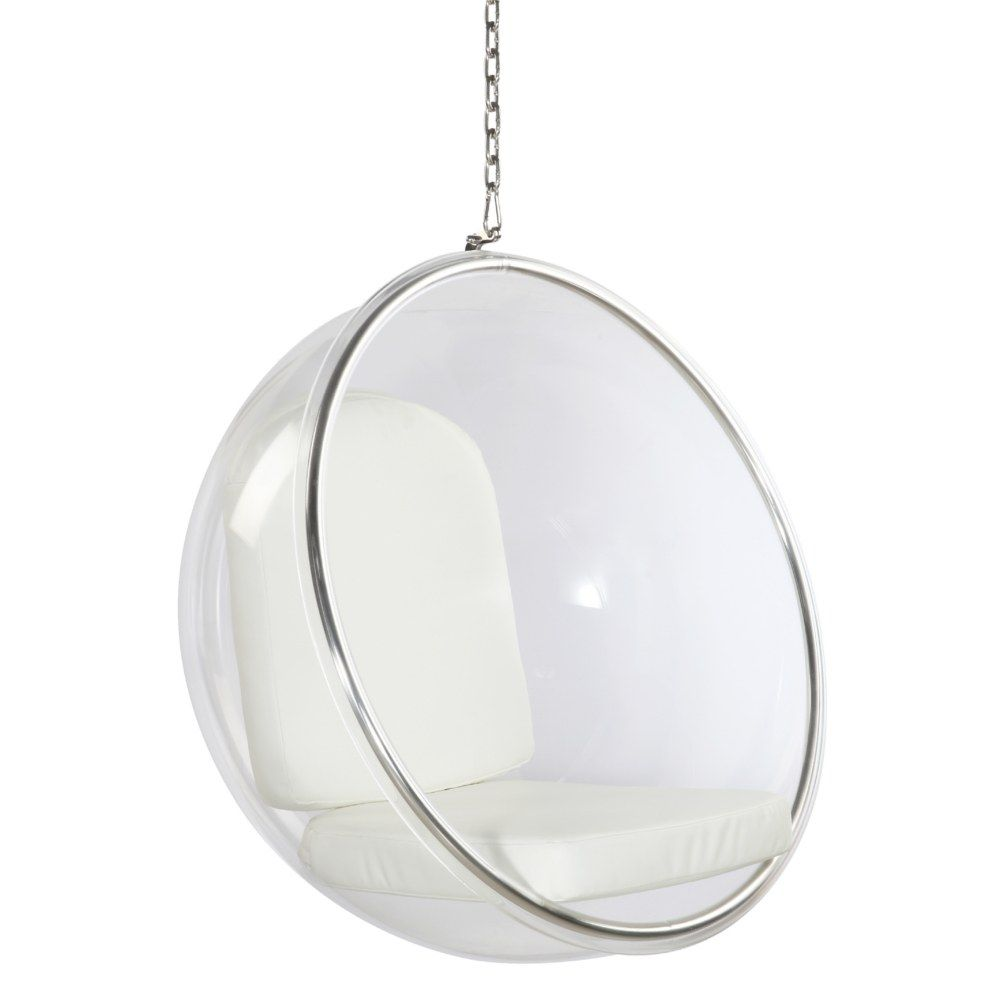 Bubble Hanging Chair In White By Mod Decor Bubble Chair Hanging