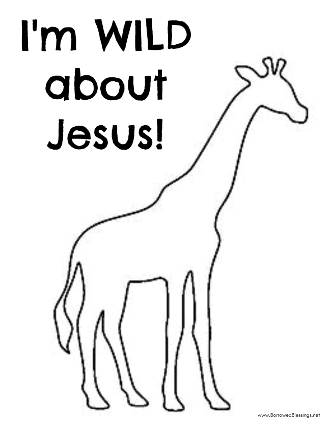 Roar VBS quot Wild About Jesus quot Giraffe Fingerprint Craft