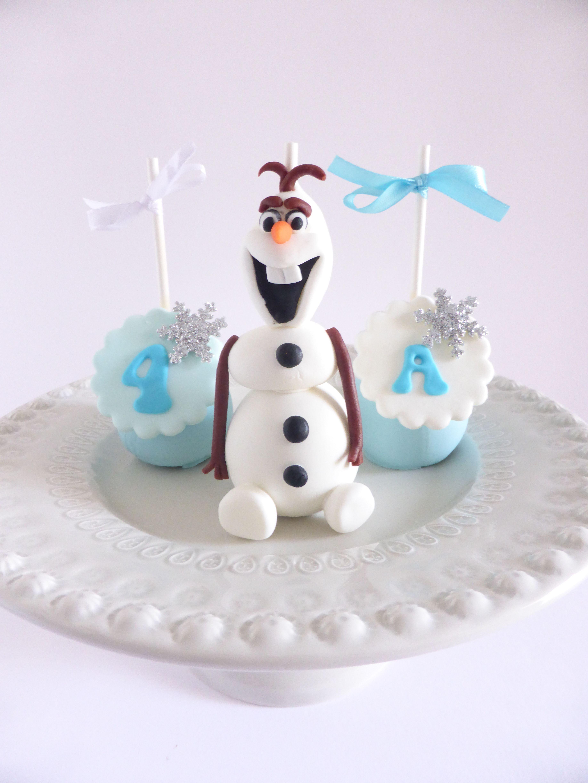 Cakepops para aniversário de menina - Frozen