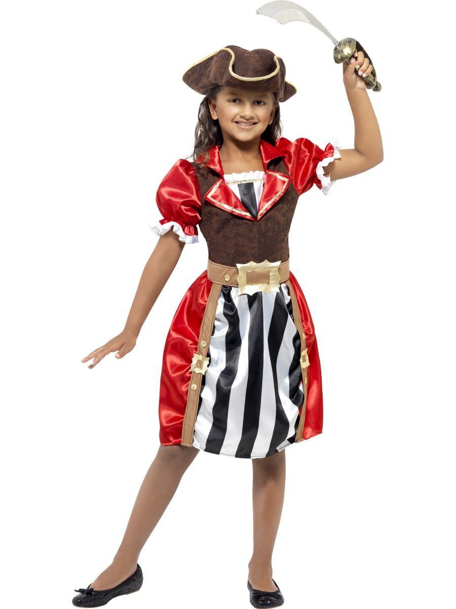 Merirosvoprinsessa.  Ihana merirorvoprinsessan naamiaisasu tekee pikkutytöistä hurjia seikkailijoita. Mekossa on käytetty myös mokkajäljitelmää, joten mekko on näyttävä ja juhlava.