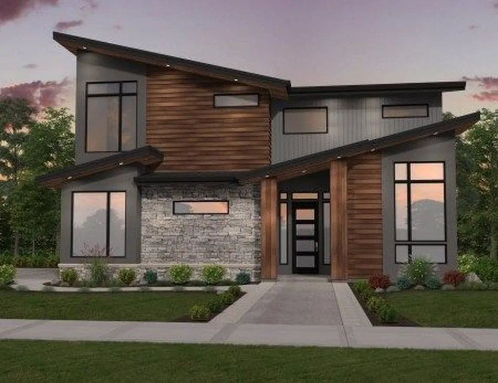 Stunning Contemporary House Exterior Design Ideas You Should Copy 05 Searchomee In 2020 Contemporary House Exterior House Exterior House Designs Exterior
