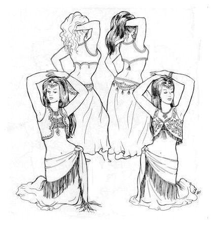 Artemis Imports - Belly Dance Store - Atira's Belly Dance Patterns - Bahar's Boleros, $9.00 (http://www.artemisimports.com/bahars-boleros/)