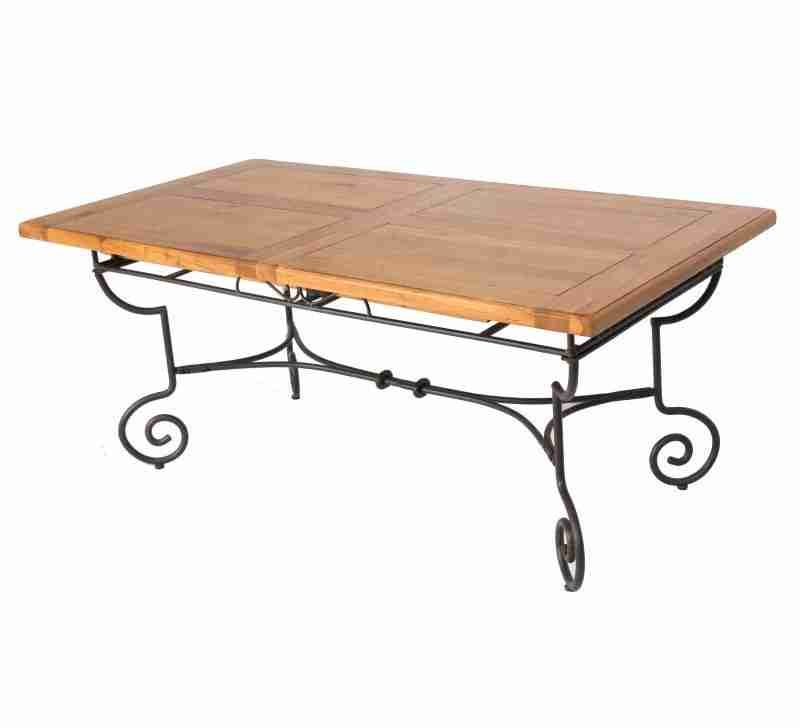 Table Basse Bois Et Fer Forge Unique Table Rectangulaire Batista