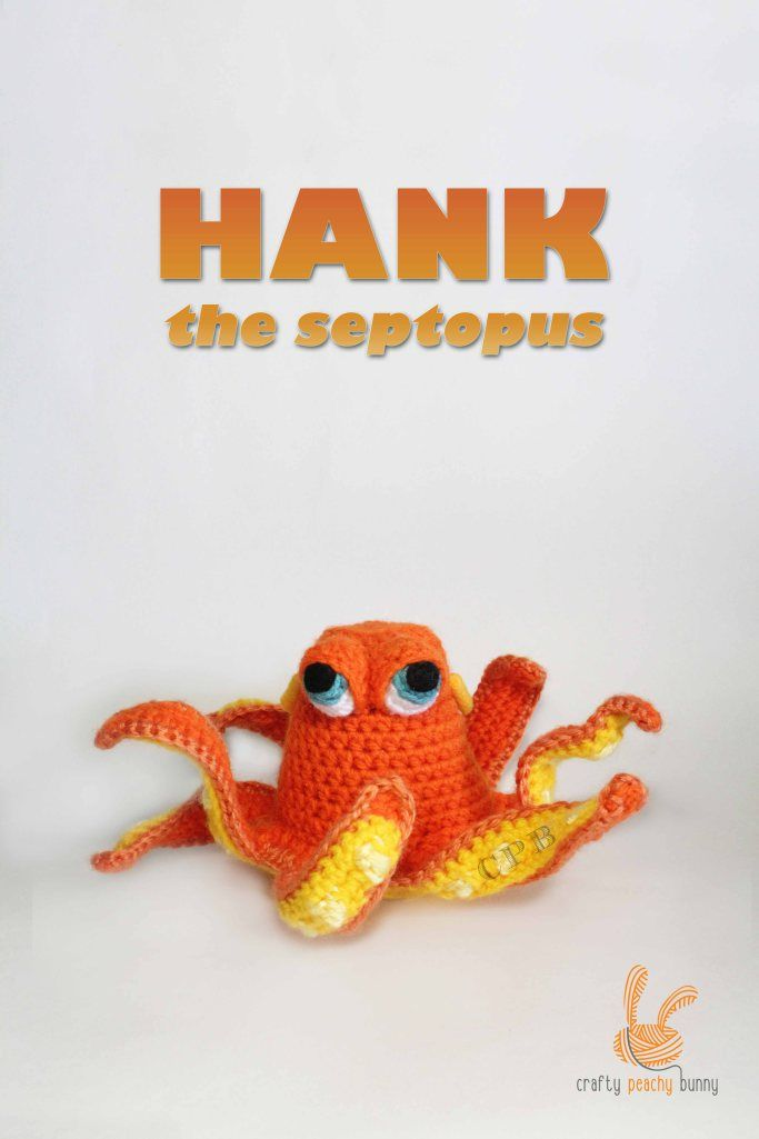 Hank the Septopus Amigurumi