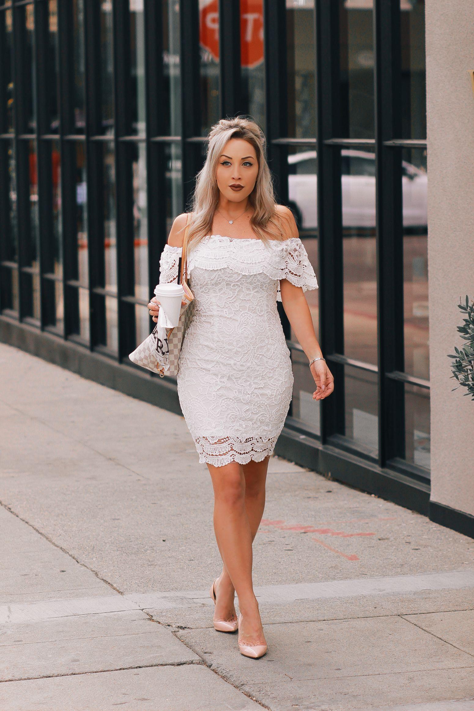 5 white bridal shower dresses