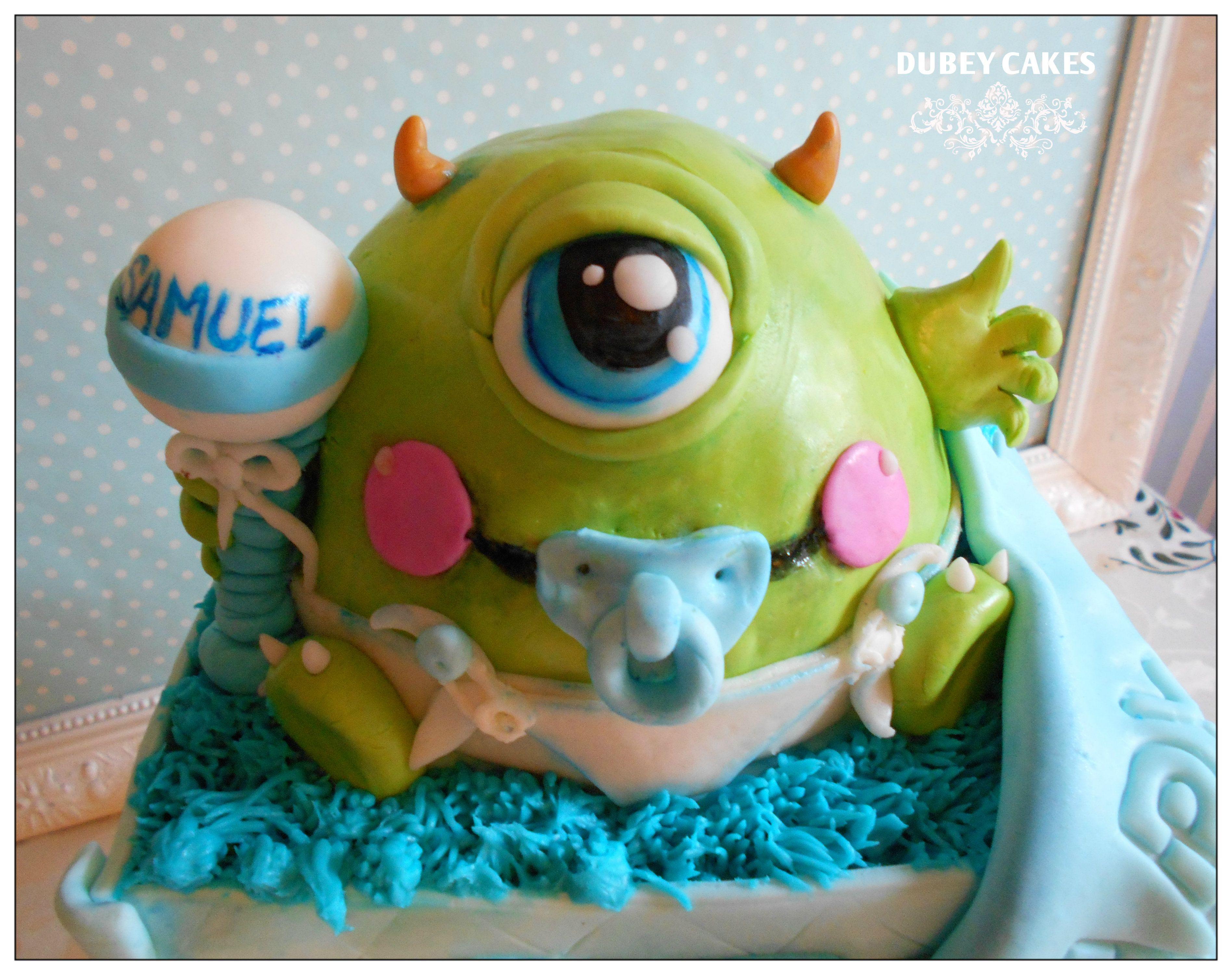 monster inc baby shower cake Dubey Cakes Pinterest