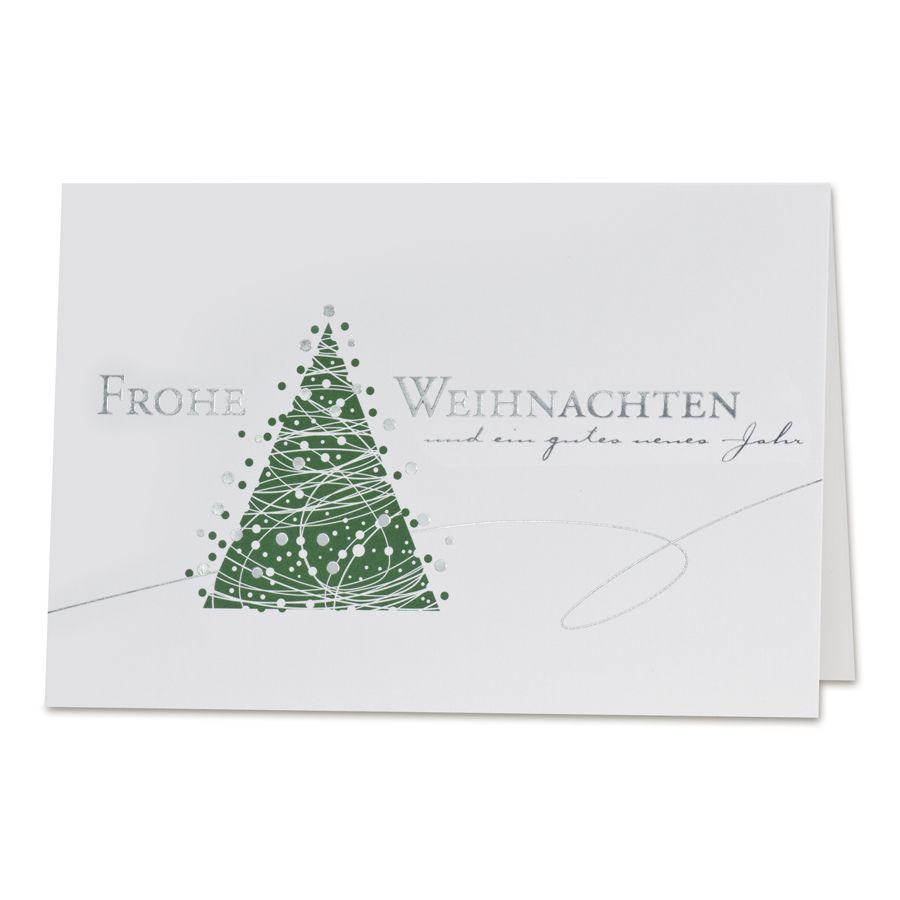 Weihnachtsgrüße Als Tannenbaum.Oh Tannenbaum Harmonische Weihnachtsgrüße In Grün Weiß Und Edlem