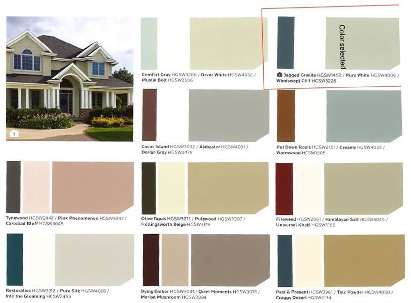How To Remove Of Your Stress Making A Color Choice In 2020 Exterior Paint Colors For House House Paint Exterior Paint Color Chart