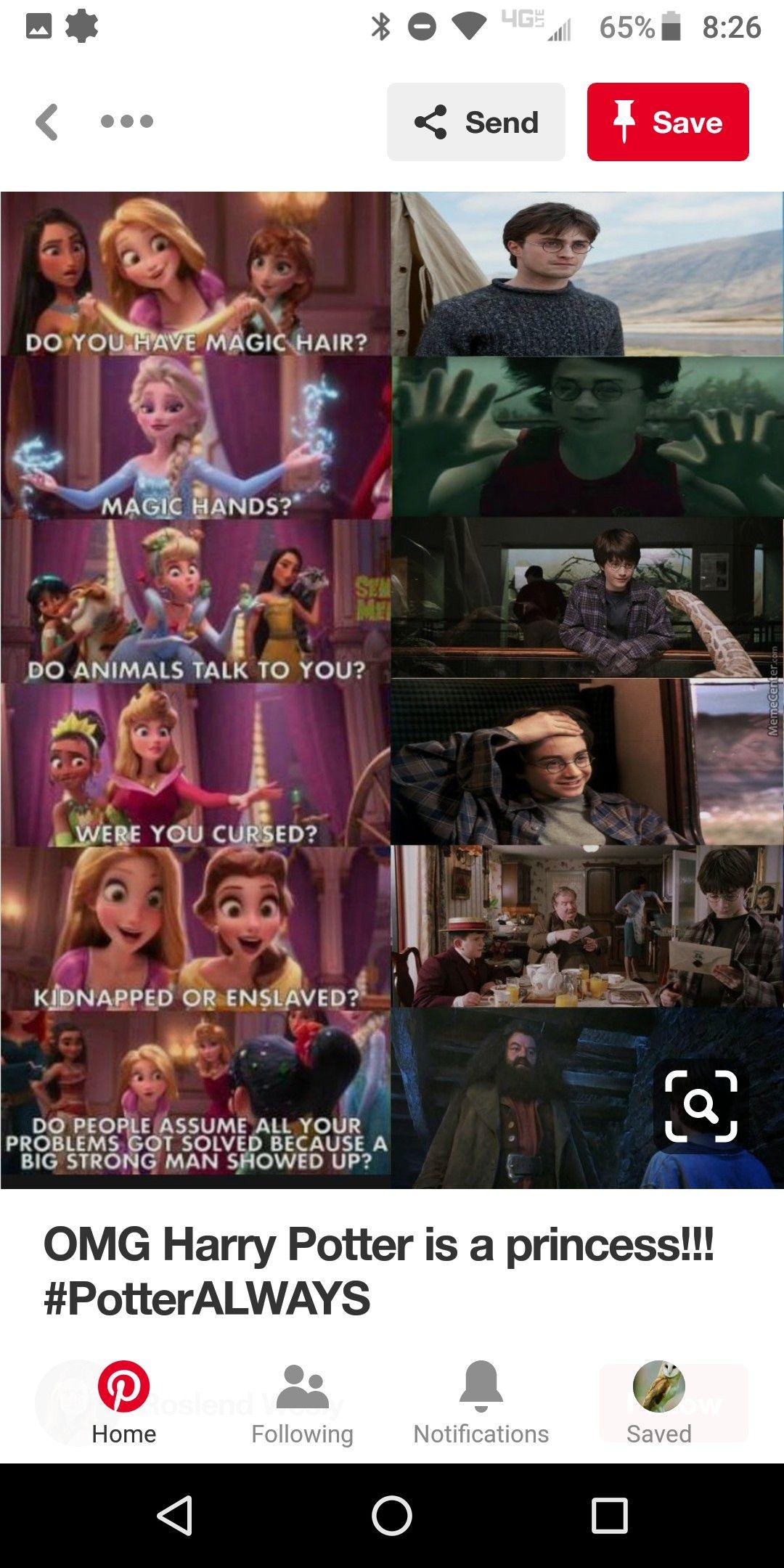 Yer A Princess Harry Harry Potter Jokes Funny Harry Potter Jokes Harry Potter Memes