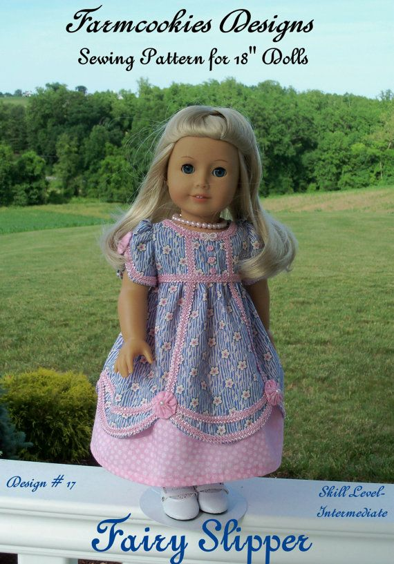PDF SEWING PATTERN Fits Like American Girl Doll Clothes / Fairy ...