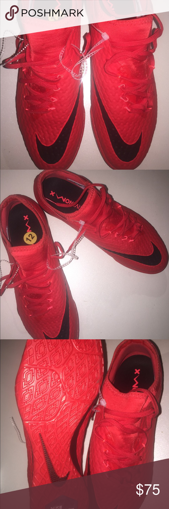 6a92a4e7c Nike Hyper-Venom X Finale II Nike Hypervenom X Finale II IC  Court Street Futsal Soccer Shoes •Color  University Red Black Bright Crimson  (852572-616 ) ...