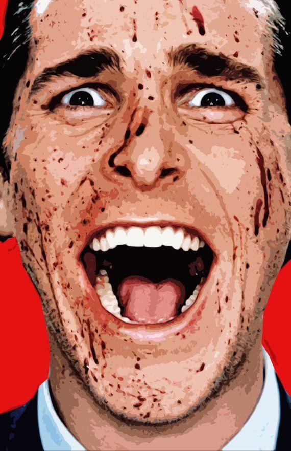 Patrick Bateman American Psycho Illustration Movie Pop