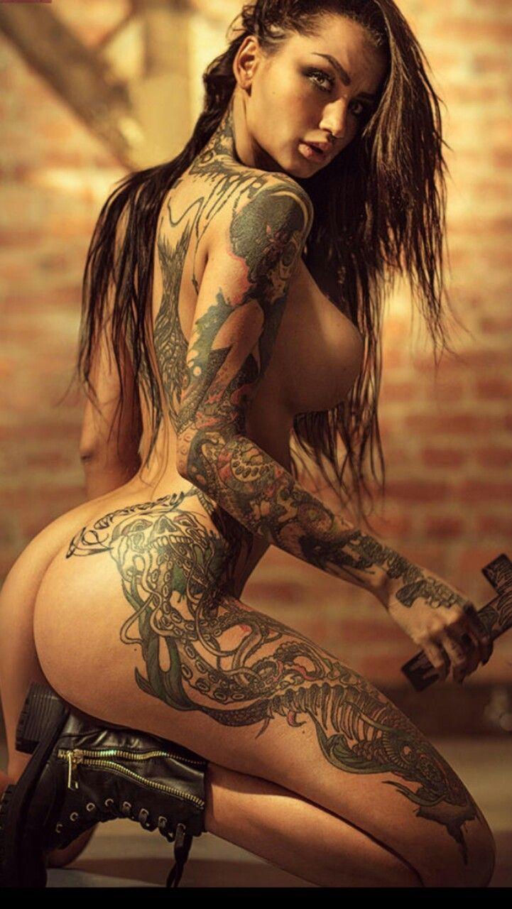 Inked naked hot girls — photo 5