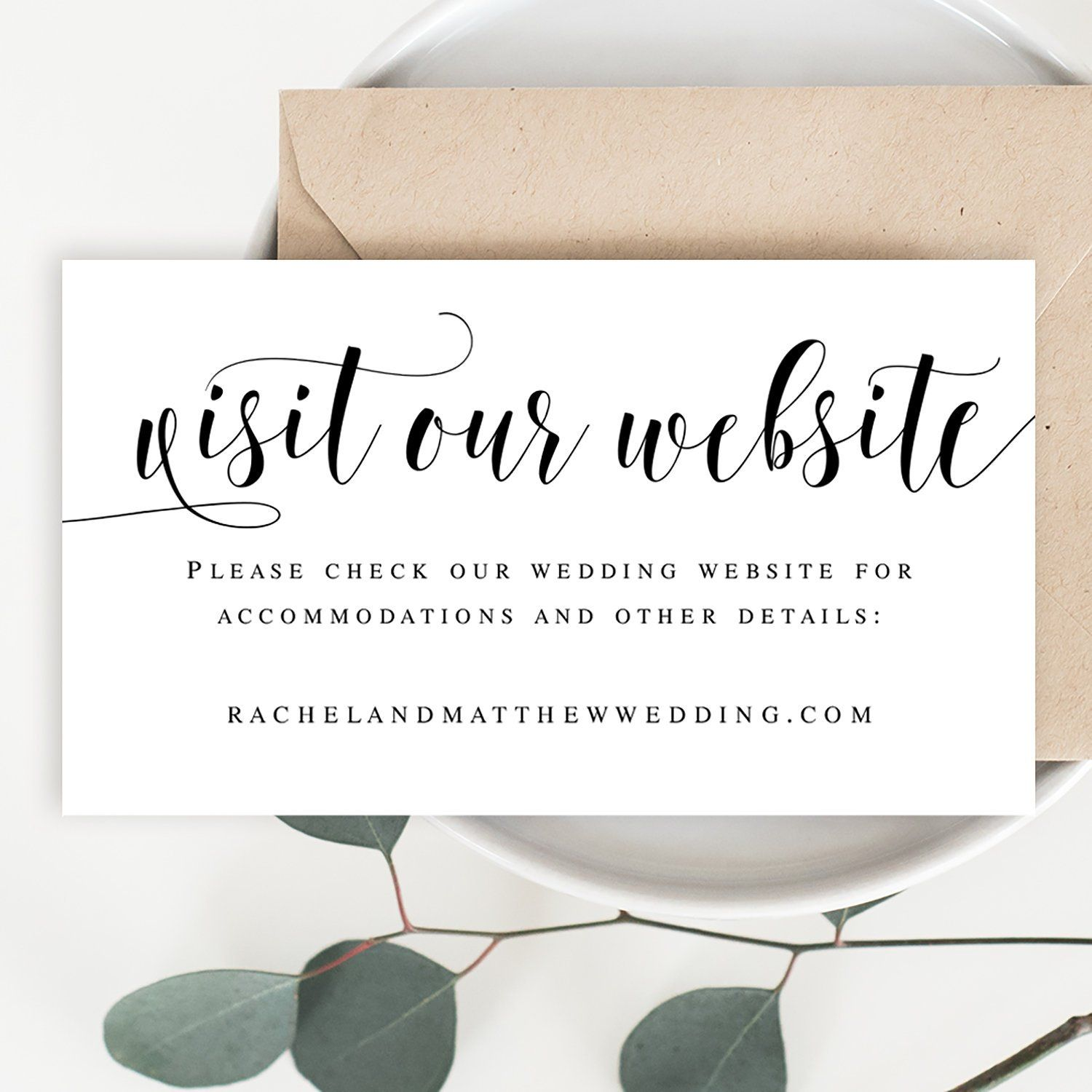 Visit Our Website Card Template Invitation Insert Template Rustic Website Insert Invitation Insert Cards Wedding Website Card Wedding Website Wedding Templates