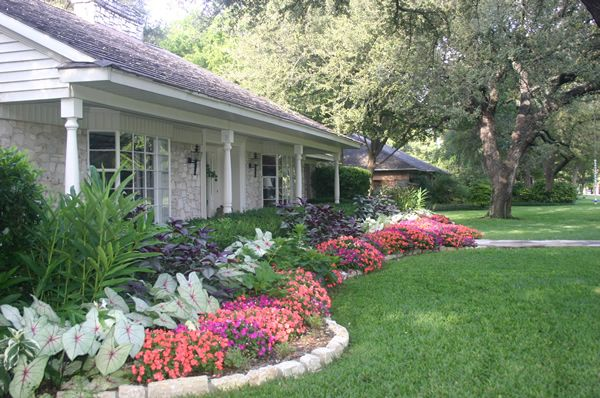 Texas Landscape Home Landscaping Ranch House Landscaping