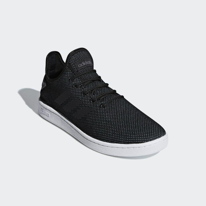 Court Adapt Shoes Black Mens | Black shoes, Black adidas, Shoes