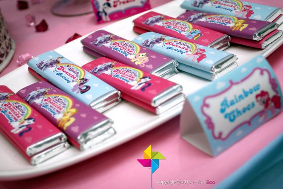 12 x Personalised Wrappers for Chocolate Birthday Add Photo Blue Or Pink