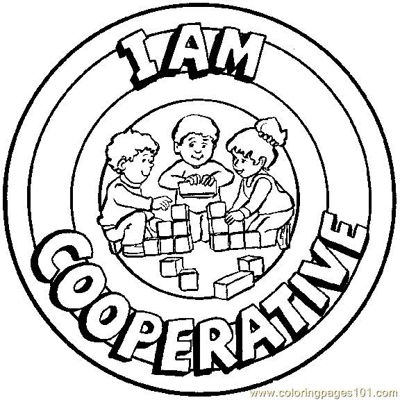 Cooperation Coloring Pages Kids School Coloring Pages Preschool