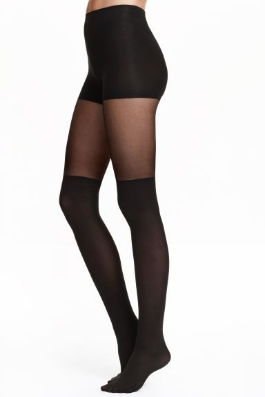 a1011df6c6e Overknee-look tights  Tights that look like a pair of overknee socks with  an elasticated waist and a reinforced top with a shaping effect on the  tummy.