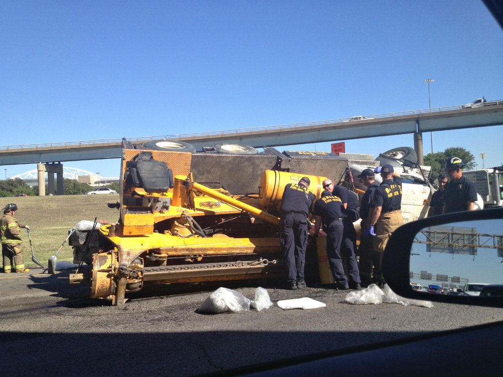 Hazmat called to the scene of a major accident at