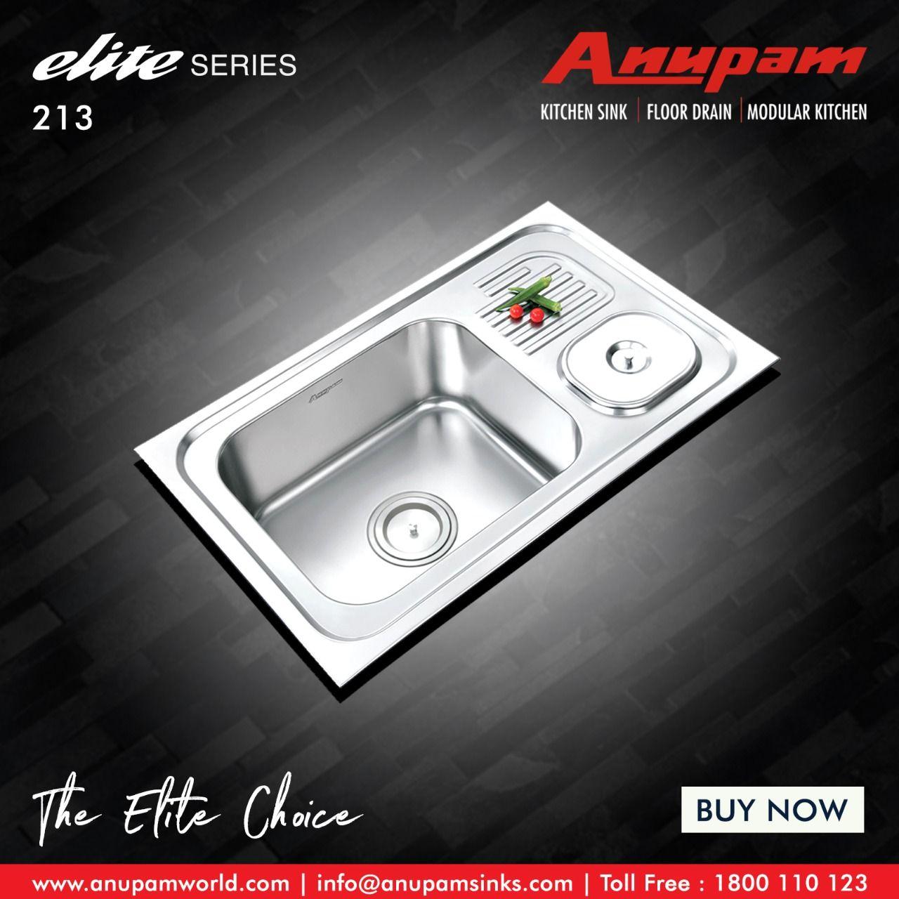 Elite Series 213 Floor Drains Sink Kitchen Sink