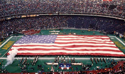 The Superflag At The Army Navy Game Large American Flag America United States Of America