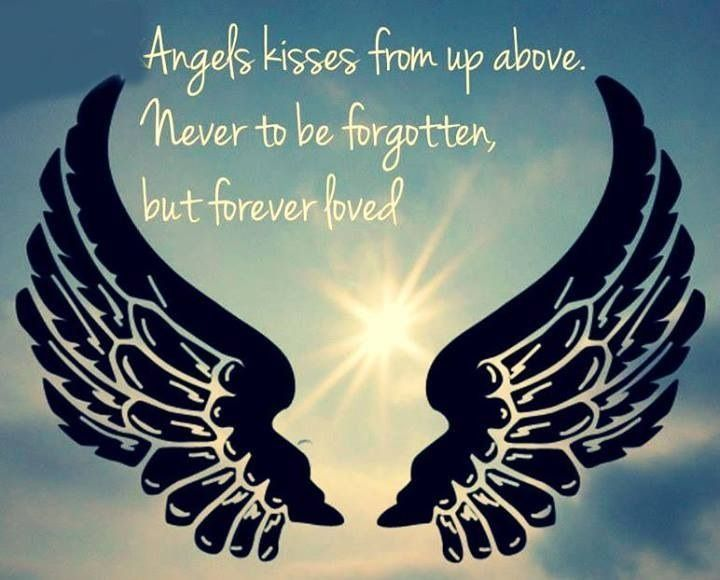Angel Kisses From Up Above. Never To Be Forgotten, But