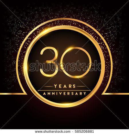 Thirty Years Birthday Celebration Logotype 30th Anniversary Logo